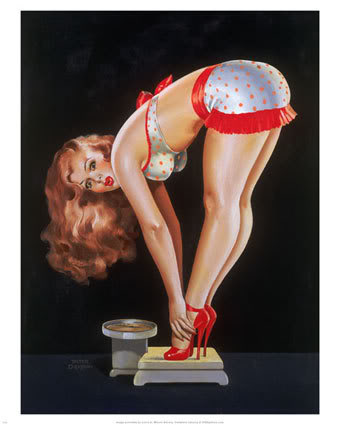 1193Pin-up-Girl-on-Scale-Posters