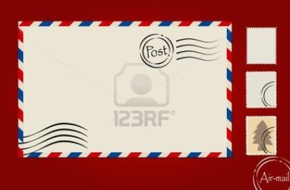 14178764-envelope-stamp-set-and-postcard